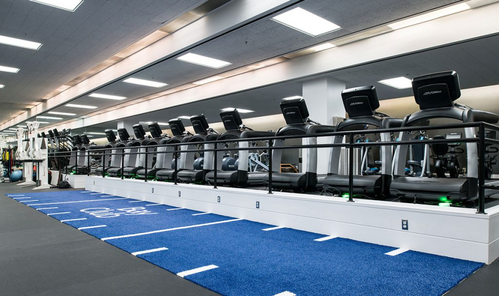 Bay Club Financial District Fitness Floor Turf fitness floor turf