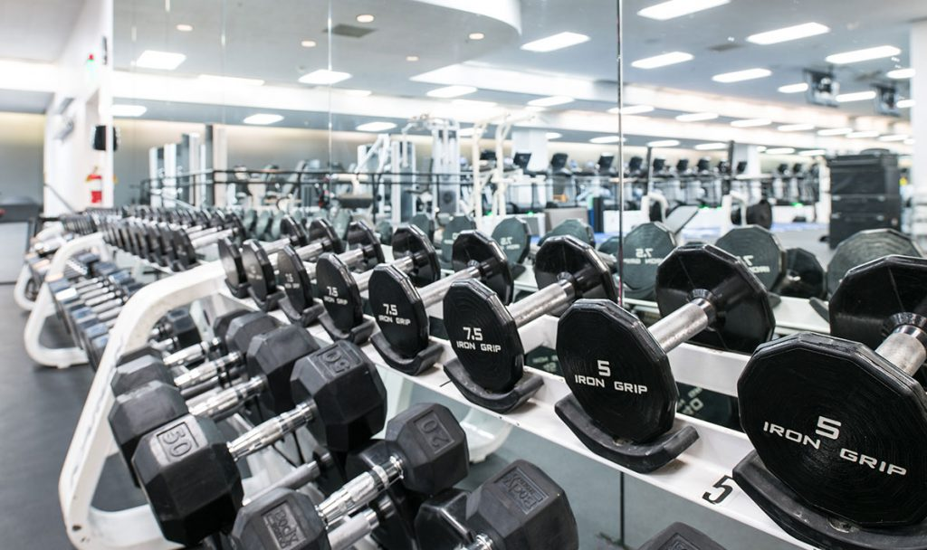 fitness floor weights