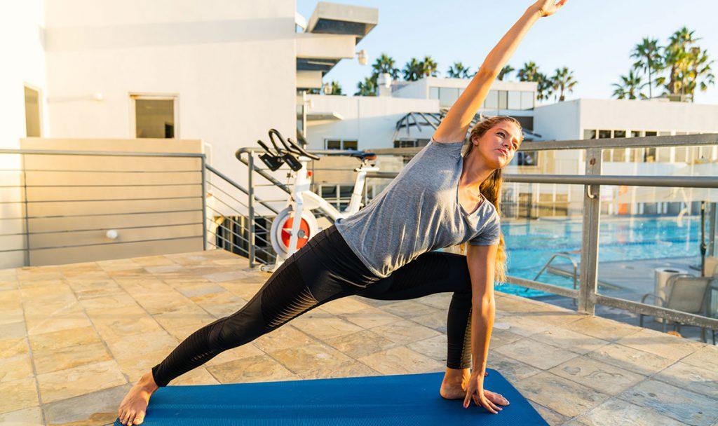 Poolside Yoga poolside yoga