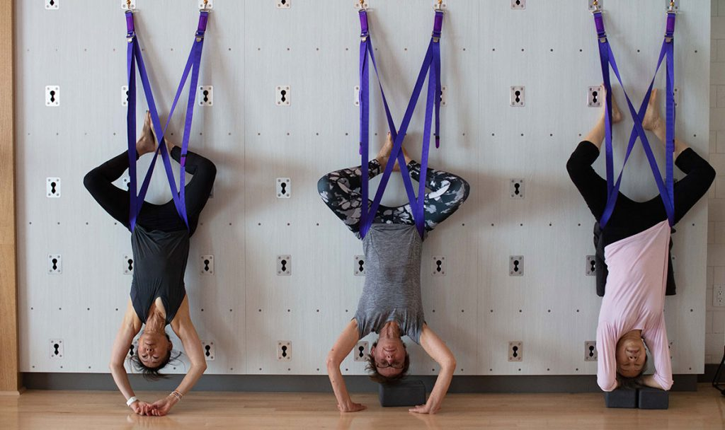 hanging wall yoga