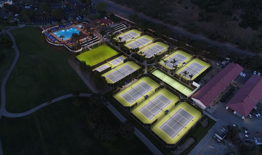 Tennis center and pool