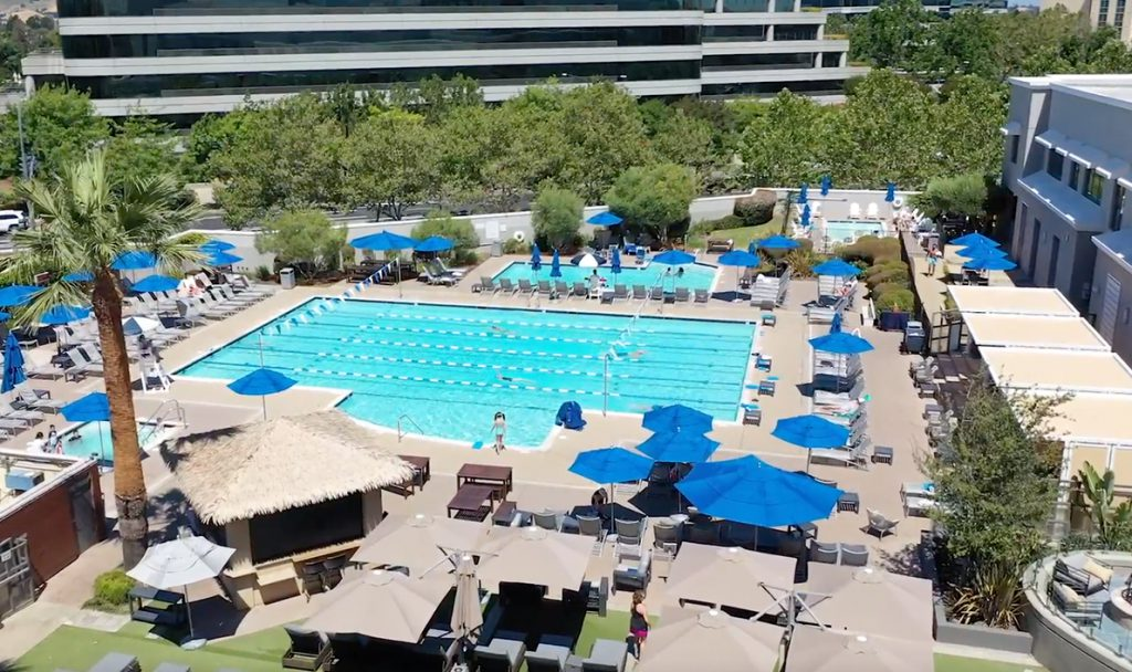 Bay Club Walnut Creek Pool Deck & Cabanas Pool deck cabanas