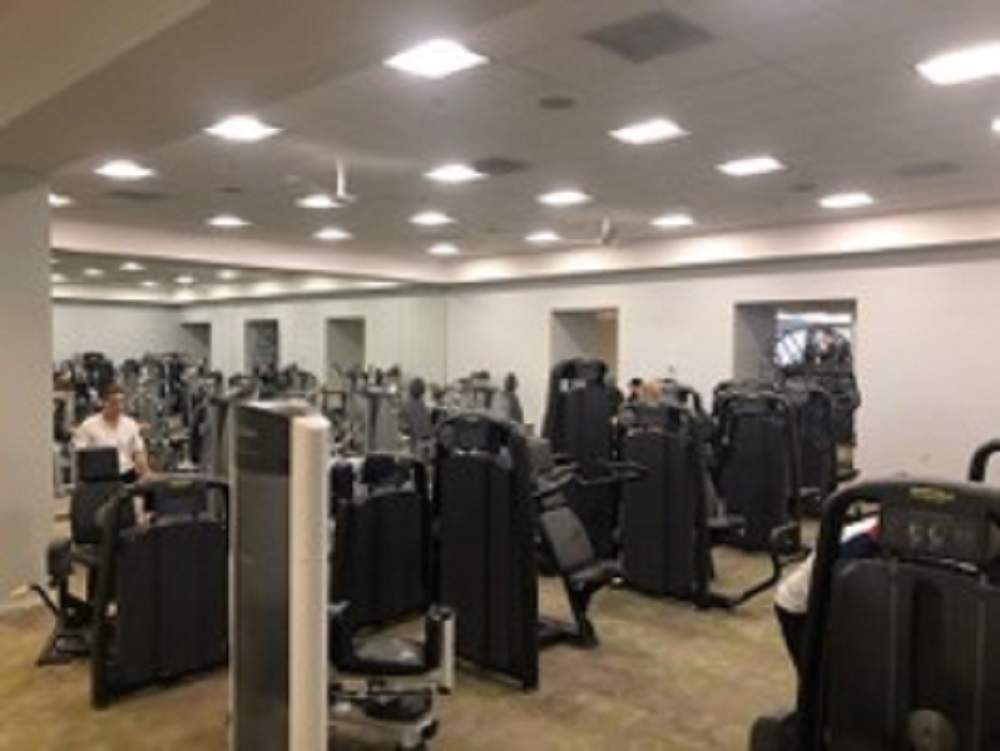 Walnut Creek - Selectorized equipment temporarily moved to Stretch Space as we redo the fitness area flooring