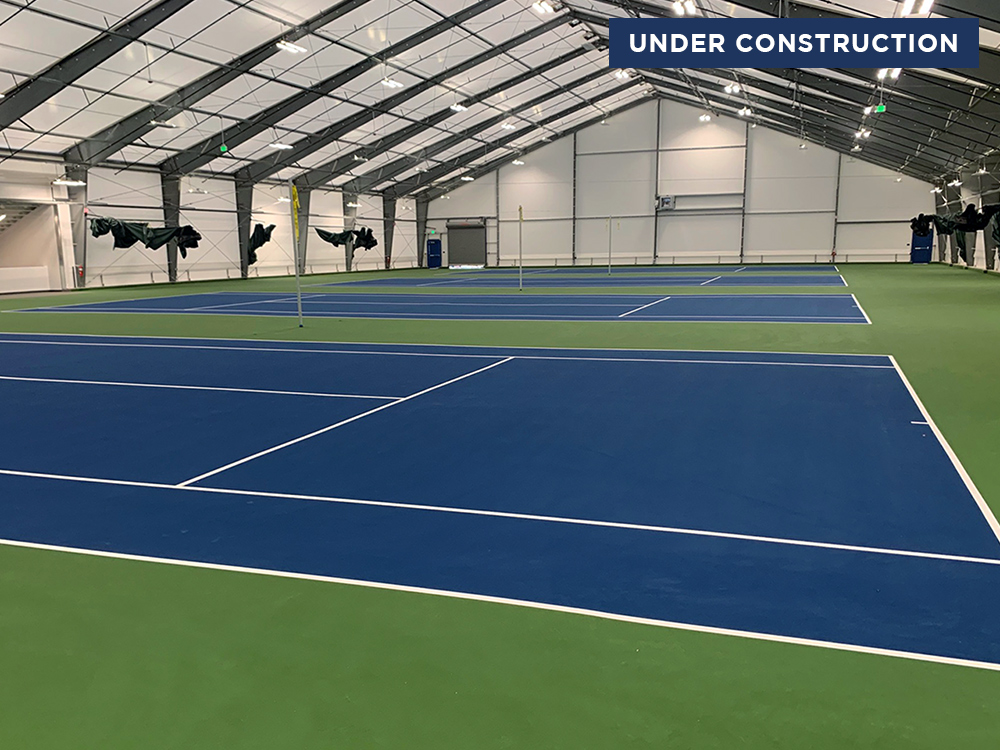 Indoor Construction of Tennis Courts